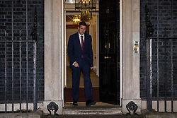 © Licensed to London News Pictures. 08/01/2018. London, UK. Defence Secretary Gavin Williamson leaves 10 Downing Street as Prime Minister Theresa May reshuffles the Cabinet. Photo credit: Rob Pinney/LNP