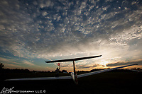 Hilltown, PA. The Philadelphia Glider Council, PGC 0PA0.<br /> Lining up the tow plane for N5QD a Grob 103 glider for take off on runway 24 for the last flight of the day. <br /> <br /> Photograph by Alan Brian Nilsen ©Alan Brian Nilsen/ABN photography