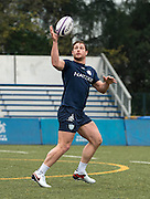 Centre HENRY CHAVANCY of French rugby union team, Racing 92 from Paris, during train in Hong Kong. They are preparing ahead of their upcoming match against New Zealand's Super League team, The Highlanders