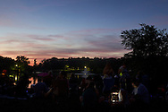 Middletown, New York  - People wait for the fireworks display by the lake at Fancher-Davidge Park during Middletown's Stars and Stripes Celebration on June 28, 2014.