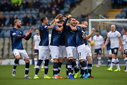 Raith Rovers Daniel Armstrong celebrates after scoring their second goal. Raith Rovers 2 v 2 Falkirk, Scottish Football League Division One played 5/9/2019 at Stark's Park, Kirkcaldy.