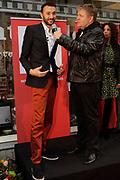 NFF - Onthulling Gouden Tegel op de Talent & Pro Filmboulevard.<br /> <br /> Op de foto: winnaar van het Gouden Kalf voor Beste Acteur 2011 voor Nasrdin Dchar