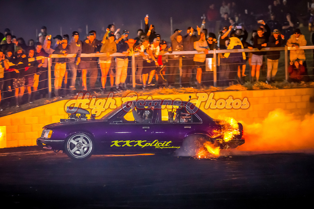 I BLOWN lighting up the pad in more ways that one on Saturday night.  Shot at Northern Nats 2018, Springmount Raceway, Far Northern Queensland - © Phil Luyer - High Octane Photos