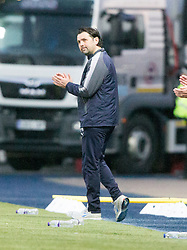 Falkirk's manager Paul Hartley. Falkirk 1 v 1 Dunfermline, Scottish Championship game played 4/5/2017 at The Falkirk Stadium.