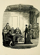 Viviana examined by the Earl of Salisbury and the Privy Council in the Star Chamber From the book ' Guy Fawkes; or, The gunpowder treason. An historical romance ' by William Harrison Ainsworth, with illustrations on steel by  George Cruikshank. Published in London, by George Routledge and sons, limited in 1841. Guy Fawkes (13 April 1570 – 31 January 1606), also known as Guido Fawkes while fighting for the Spanish, was a member of a group of provincial English Catholics who was involved in the failed Gunpowder Plot of 1605. He was born and educated in York; his father died when Fawkes was eight years old, after which his mother married a recusant Catholic.