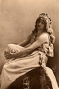Mary Anderson (1859-1940) American actress, here as Perdita in 'The Winter's Tale' by William Shakespeare, a part which she played at the Lyceum Theatre, London, in 1887.  Photogravure.