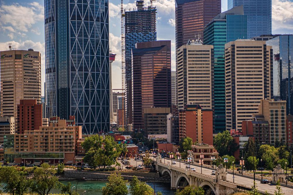 Downtown Calgary & Centre Street Bridge