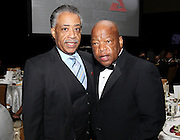 ATLANTA, GA - MAY 14:  Reverend Al Sharpton and U.S. Congressman John Lewis (right) attend the MLB Beacon Awards Banquet at the Omni Hotel on May 14, 2011 in Atlanta, Georgia.  (Photo by Mike Zarrilli/Getty Images)