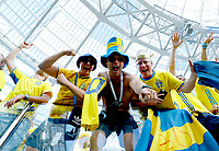 sweden supporters celebration<br /> Nizhny Novgorod 16-06-2018 Football FIFA World Cup Russia  2018 <br /> Sweden - South Korea / Svezia - Corea del Sud <br /> Foto Matteo Ciambelli/Insidefoto