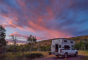 Camper at Angel Creek Campground, Humboldt-Toiyabe National Forest, Elko County, Nevada