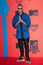 Jhay Cortez attends the MTV EMAs 2019 at FIBES Conference and Exhibition Centre on November 03, 2019 in Seville, Spain. Photo by David Niviere/ABACAPRESS.COM