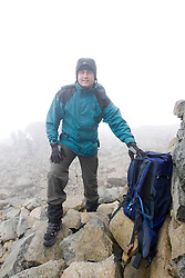 Fellow cancer sufferer and Welshman Mark Waddon, 35, travelled from New Port, South Wales..The John Hartson Foudation walk up Ben Nevis..Pic ©2010 Michael Schofield. All Rights Reserved.