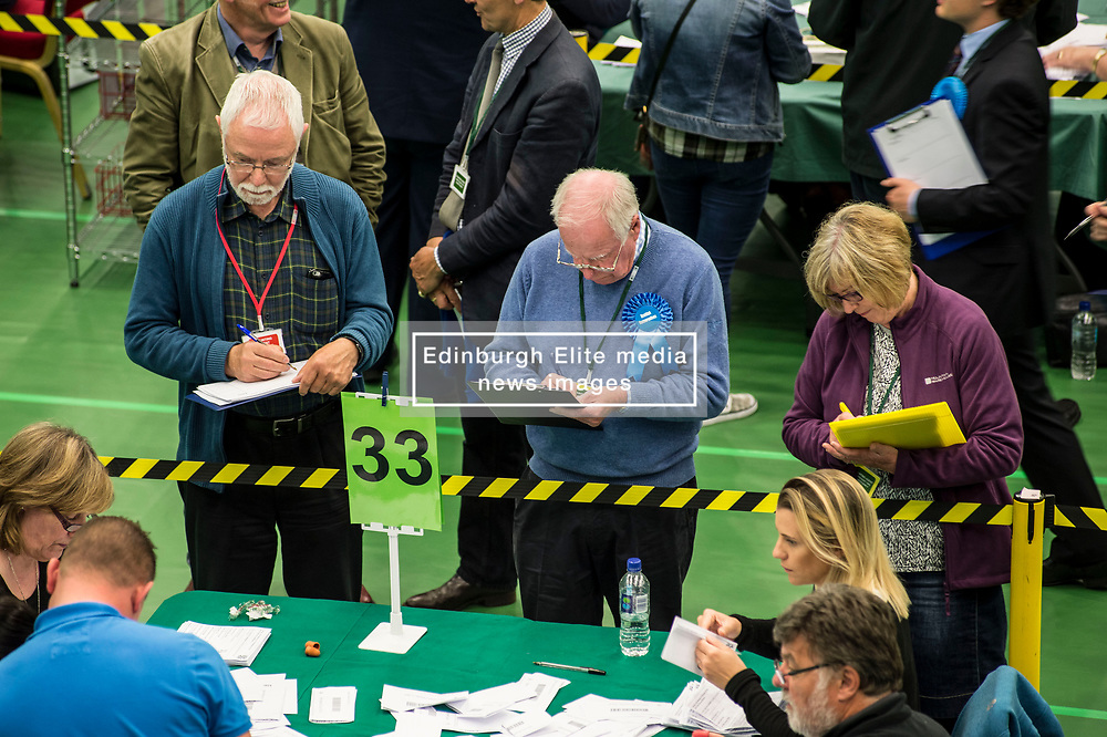 party counters scrutinise counting at the hotly-contested North East Fife constituency.<br /> <br /> © Dave Johnston/ EEm
