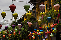 Hoi An Silk Lanterns - Hoi An is well known throughout Asia for its hand made crafts, particularly silk lamps and lanterns.  The lanterns are out in full force during lunar cycles when the moon is full and candles are placed in front of buildings and electrical lights turned off.  This gives the lanterns a special appeal.  Other specialties in Hoi An include tailor made clothing and hand carved wooden items.
