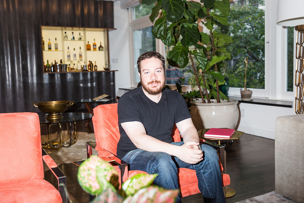 Entrepreneur and owner of Bustle Media Group, Bryan Goldberg inside his New York City home, 2016.