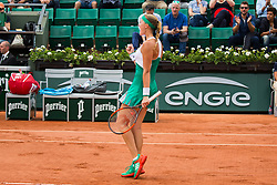 Kristina Mladenovic of France playing and defeated during French Tennis Open at Roland-Garros arena on June 02, 2017 in Paris, France. Photo by Nasser Berzane/ABACAPRESS.COM