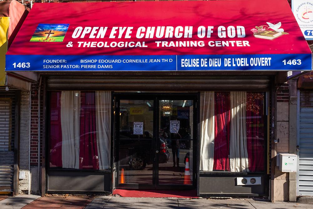 Open Eye Church of God & Theological Training Center, 1463 Flatbush Avenue, Brooklyn.