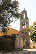 The bell tower of Agios Yperayia Theotokou Eleousa on the island of Paxos, The Ionian Islands, The Greek islands, Europe