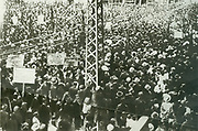 Meeting in Plovdiv centre, the vranguelistes, 1921.