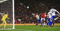 12th September 2017 - UEFA Champions League - Group A - Manchester United v FC Basel - Romelu Lukaku of Man Utd scores their 2nd goal - Photo: Simon Stacpoole / Offside.