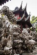 Embracing Clouds Cliff and Kuai Lou in Yu Yuan Gardens Shanghai, China