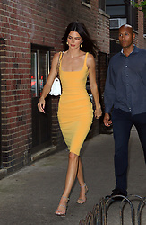 June 18, 2019 - New York, New York, United States - Model Kendall Jenner wears a bright yellow dress and carries a Prada purse as she goes out in Midtown Manhattan on June 17 2019 in New York City  (Credit Image: © Mike Reed/Ace Pictures via ZUMA Press)