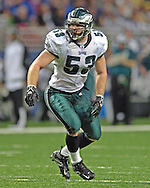Philadelphia Eagles linebacker Mark Simoneau in action against the St. Louis Rams at the Edward Jones Dome in St. Louis, Missouri, December 18, 2005.  The Eagles beat the Rams 17-16.
