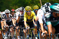 Geraint Thomas (GBR - Team Sky) Yellow jersey, during the 105th Tour de France 2018, Stage 18, Trie sur Baise - Pau (172 km) on July 26th, 2018 - Photo Luca Bettini / BettiniPhoto / ProSportsImages / DPPI