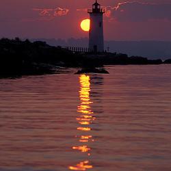 Portsmouth Harbor Light.  Lighthouses. Sunrise.   New England.  New Castle, NH