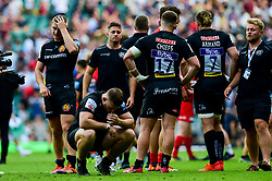 Luke Cowan-Dickie of Exeter Chiefs look dejected after the final whistle of the match - Mandatory by-line: Ryan Hiscott/JMP - 01/06/2019 - RUGBY - Twickenham Stadium - London, England - Exeter Chiefs v Saracens - Gallagher Premiership Rugby Final