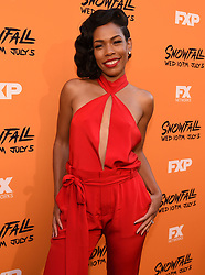 LOS ANGELES - JUNE 26: Angela Lewis attends FX Networks and FX Productions Premiere event for 'Snowfall' at The Theatre at the Ace Hotel on June 26, 2017 in Los Angeles, California. (Photo by Frank Micelotta//FX/PictureGroup) *** Please Use Credit from Credit Field ***