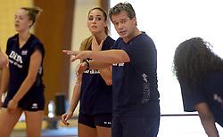 30-09-2014 ITA: World Championship Volleyball Training Nederland, Verona<br /> Coach Gido Vermeulen, Myrthe Schoot
