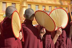 Monks At Shwezigon Pagoda