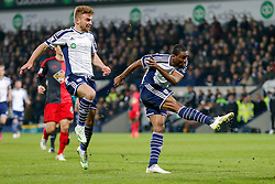 Brown Ideye of West Brom scores a goal to make it 1-0 - Photo mandatory by-line: Rogan Thomson/JMP - 07966 386802 - 11/02/2015 - SPORT - FOOTBALL - West Bromwich, England - The Hawthorns - West Bromwich Albion v Swansea City - Barclays Premier League.