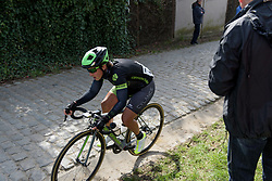 Marta Tagliaferro approaches the final metres of Paterberg at Dwars door Vlaanderen 2017. A 114 km road race on March 22nd 2017, from Tielt to Waregem, Belgium. (Photo by Sean Robinson/Velofocus)