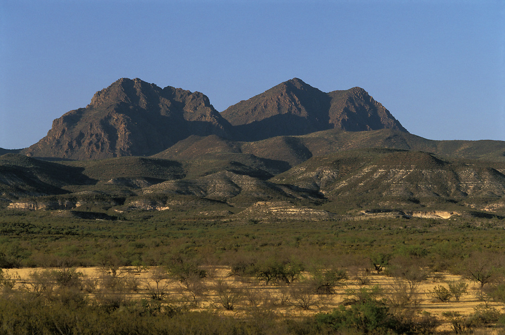 Mount Triplet on the San Carlos Apache Indian Reservation in Arizona, USA. June 2004.