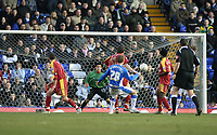 Photo: Mark Stephenson.<br />Birmingham City v Reading. The FA Cup. 27/01/2007.<br />Birmingham's Gary McSheffrey nearly scores
