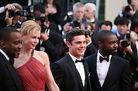 Nicole Kidman, Lee Daniels, Zac Efron, David Oyelowo at The Paperboy gala screening red carpet at the 65th Cannes Film Festival France. Thursday 24th May 2012 in Cannes Film Festival, France.