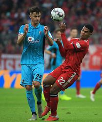 03.11.2018, 1. BL, FC Bayern vs SC Freiburg, Allianz Arena Muenchen,  Fussball, Sport, im Bild:...Robin Koch (SC Freiburg) vs Serge Gnabry (FCB)..DFL REGULATIONS PROHIBIT ANY USE OF PHOTOGRAPHS AS IMAGE SEQUENCES AND / OR QUASI VIDEO...Copyright: Philippe Ruiz..Tel: 089 745 82 22.Handy: 0177 29 39 408.e-Mail: philippe_ruiz@gmx.de. (Credit Image: © Philippe Ruiz/Xinhua via ZUMA Wire)