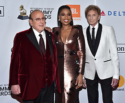 Clive Davis, Jennifer Hudson, Barry Manilow attend the Clive Davis and Recording Academy Pre-GRAMMY Gala and GRAMMY Salute to Industry Icons Honoring Jay-Z on January 27, 2018 in New York City.. Photo by Lionel Hahn/ABACAPRESS.COM
