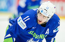 Anze Kopitar of Slovenia during Ice Hockey match between Slovenia and USA at Day 10 in Group B of 2015 IIHF World Championship, on May 10, 2015 in CEZ Arena, Ostrava, Czech Republic. Photo by Vid Ponikvar / Sportida