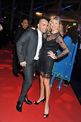 LOUIE SPENCE and DEBBIE MOORE at the annual Collars & Coats Gala Ball in aid of Battersea Dogs & Cats Home held at Battersea Evolution, Battersea Park, London on 11th November 2011.