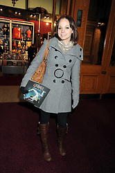 Actress GEORGIA MOFFETT at the Cirque du Soleil's gala premier of Quidam held at the Royal Albert Hall, London on 6th January 2009