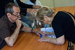June 18, 2017 - Lyon, France - A polling station of the 5th arrondissement of Lyon, France, for the legislative elections on June 18, 2017. (Credit Image: © Nicolas Liponne/NurPhoto via ZUMA Press)