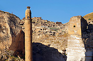 Ayyubid El Rizk Mosque ancinet citadel & Artukid Little Palace of Hasankeyf– The Mosque was built in 1409 by the Ayyubid sultan Süleyman and stands on the bank of the Tigris River. It has Kufic incriptions & decorations. Turkey 3 .<br /> <br /> If you prefer to buy from our ALAMY PHOTO LIBRARY  Collection visit : https://www.alamy.com/portfolio/paul-williams-funkystock/hasankeyf-turkey.html<br /> <br /> Visit our PHOTO COLLECTIONS OF TURKEY HISTOIC PLACES for more photos to download or buy as wall art prints https://funkystock.photoshelter.com/gallery-collection/Pictures-of-Turkey-Turkey-Photos-Images-Fotos/C0000U.hJWkZxAbg
