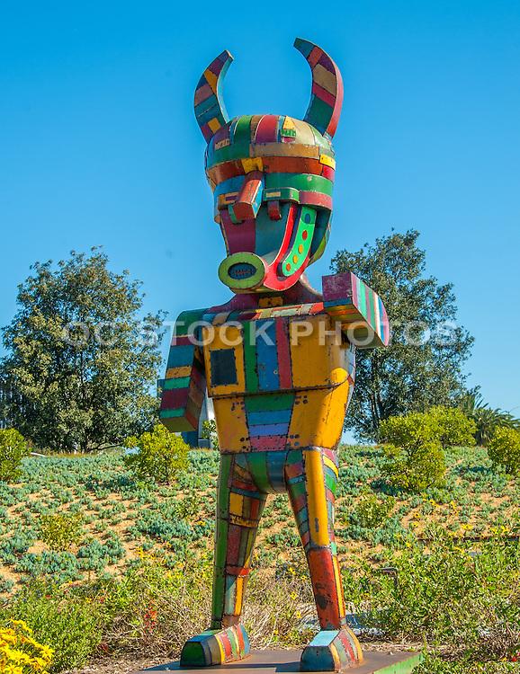 Pretty Boy Steel Sculpture at Newport Beach Civic Center and Park