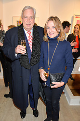 LADY MARY-GAYE CURZON and DAVID McDONOUGH at a private view entitled Stop Making Sense featuring work by Georgiana Anstruther and Carol Corell held at Lacey Contemporary, 8 Clarendon Cross, London on 9th March 2016.