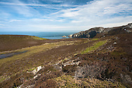 The Anglesey coastline close to South Stack, Wales