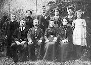 vintage group photo of a family