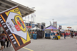 March 1, 2019 - Las Vegas, NV, U.S. - LAS VEGAS, NV - MARCH 01: Las Vegas Motor Speedway is ready and waiting for fans prior to the start of practice for the Pennzoil 400 Monster Energy NASCAR Cup Series race on March 01, 2019, at the Las Vegas Motor Speedway in Las Vegas, Nevada (Photo by Matthew Bolt/Icon Sportswire) (Credit Image: © Matthew Bolt/Icon SMI via ZUMA Press)